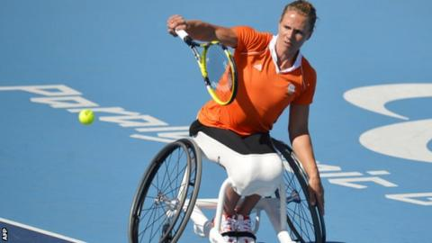 Wheelchair tennis star Esther Vergeer