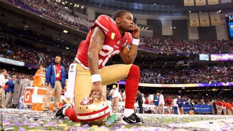 San Francisco 49ers cornerback Perrish Cox looks glum in defeat
