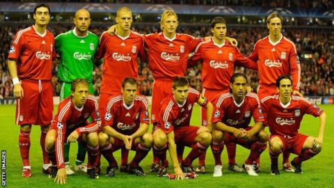 The Liverpool team which played Debrecen at Anfield in 2009. there is no suggestion of any wrongdoing by the Anfield club.