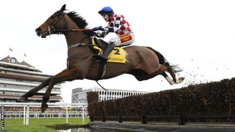 The Giant Bolster, ridden by Tom Scudamore
