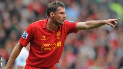 Liverpool defender Jamie Carragher