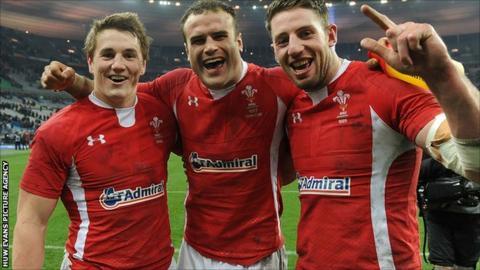 Jamie Roberts, Jonathan Davies, Alex Cuthbert