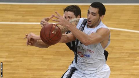 Partizan Belgrade's Drew Gordon