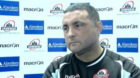 Edinburgh head coach Michael Bradley