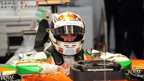 Racing driver Adrian Sutil