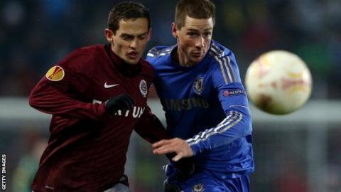 Fernando Torres (R) with Mario Holek