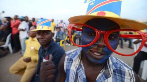 DR Congo fans follow the 2013 Africa Cup of Nations
