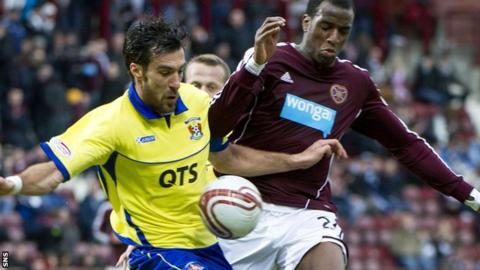 Hearts were beaten 3-0 at home by Kilmarnock