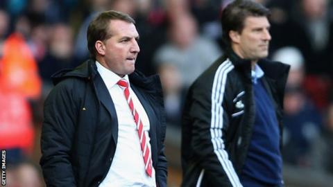 Brendan Rodgers and Michael Laudrup