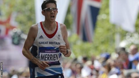Lee Merrien running at London 2012