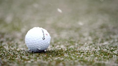 Golf ball in snow