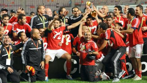 Al Ahly celebrate winning the 2012 Champions League