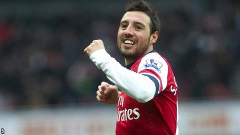 Arsenal playmaker Santi Cazorla
