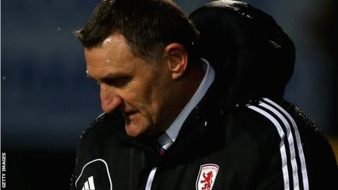 Middlesbrough manager Tony Mowbray