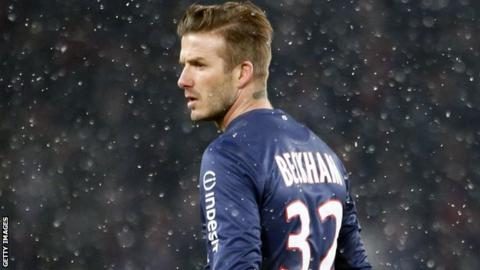 Paris St German's David Beckham