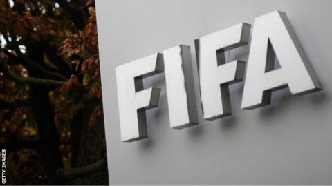 Fifa sign outside organisation's headquarters in Zurich, Switzerland