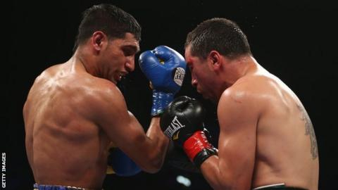 Amir Khan and Carlos Molina