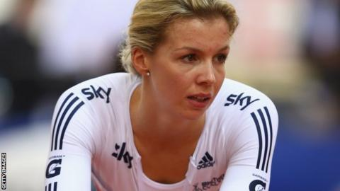 Becky James was a Team GB reserve at the 2012 Olympic Games in London