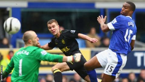 Callum McManaman scores Wigan's second goal
