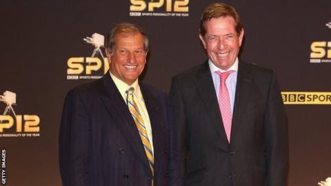 Derek Thompson (right) with Bob Champion