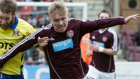 Hearts defender Fraser Mullen