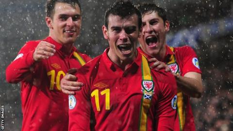 Gareth Bale scored twice against Scotland in October