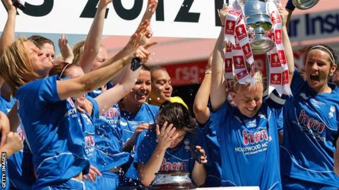 Birmingham celebrate their 2012 victory over Chelsea at Ashton Gate