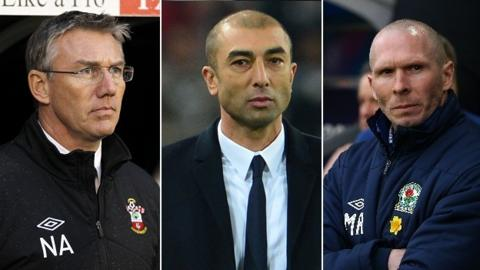 Nigel Adkins, Roberto di Matteo and Michael Appleton