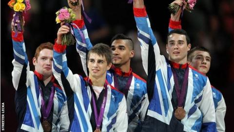 Dan Purvis, Max Whitlock, Louis Smith, Kristian Thomas and Sam Oldham