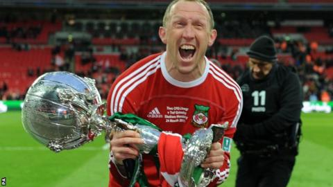 Wrexham player-manager Andy Morrell