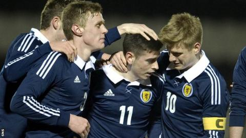 Scotland U21s were 3-0 winners at St Mirren Park