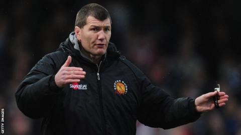Exeter coach Rob Baxter