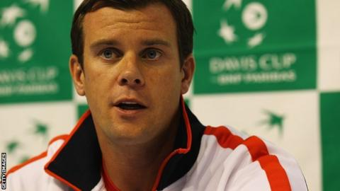 Davis Cup captain Leon Smith
