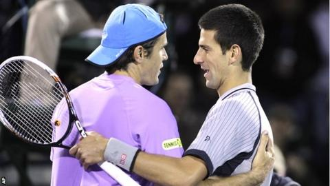 Tommy Haas and Novak Djokovic