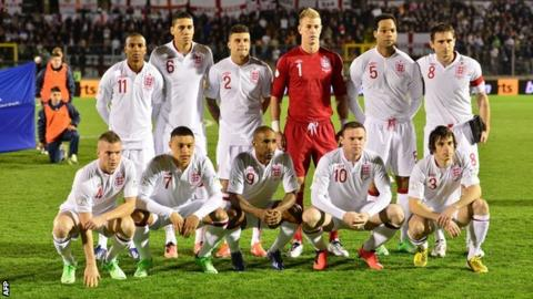 England team v San Marino