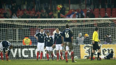 Scotland lost in Serbia