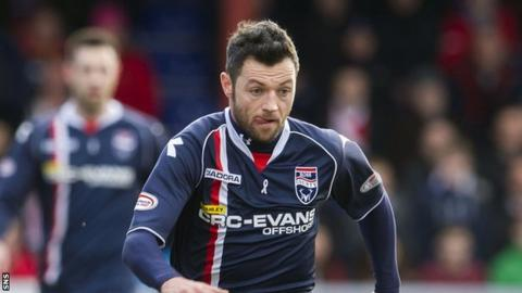 Ross County winger Ivan Sproule