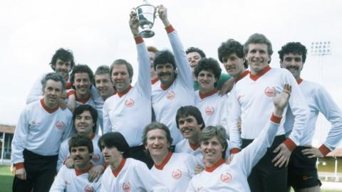 The Division Two title winning team of season 1981/82