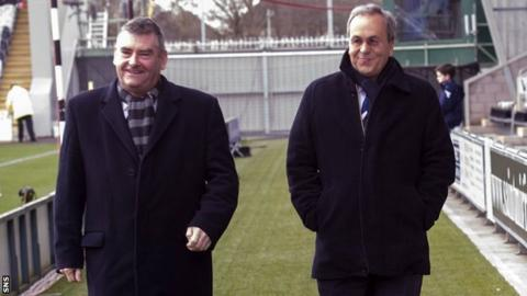 St Mirren chairman Stewart Gilmour and Ross County chairman Roy MacGregor
