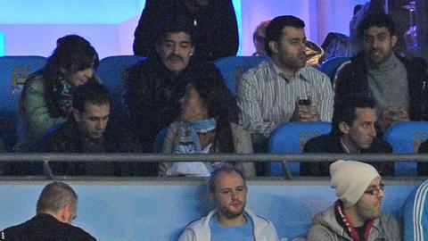 Diego Maradona (back row, second left)