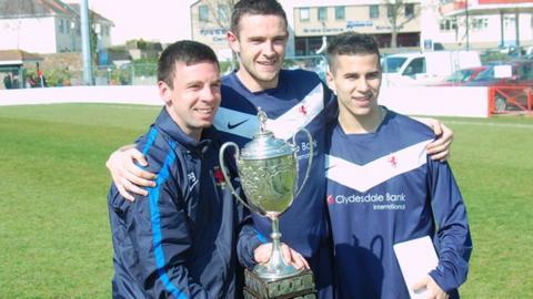 Jersey Scottish celebrate win