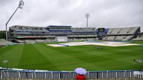 Edgbaston in the rain