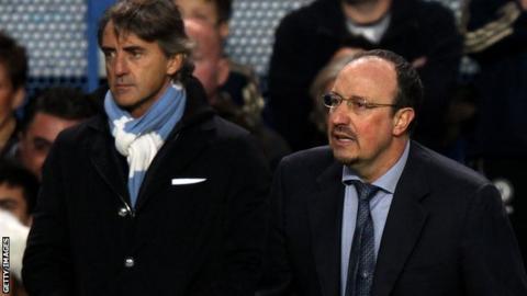 Roberto Mancini and Rafael Benitez