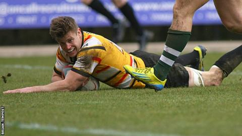 Matt Evans scored two tries for the Pirates