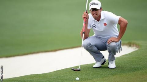 Adam Scott with his belly putter