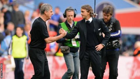 Brian Kidd and Roberto Mancini