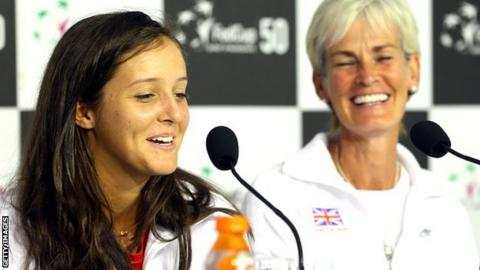 Laura Robson with Judy Murray