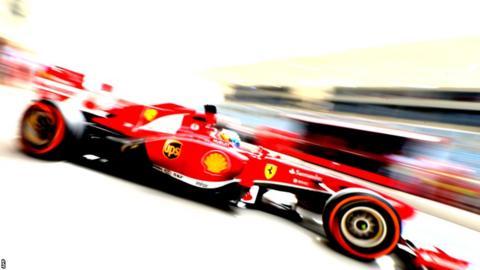 Fernando Alonso's Ferrari