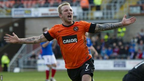 Dundee United striker Johnny Russell