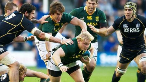 South Africa won at Murrayfield last year